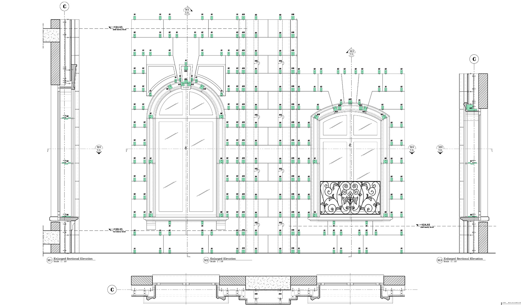 sistema di ancoraggio del rivestimento, pareti ventilate, Vratza Beige - 1