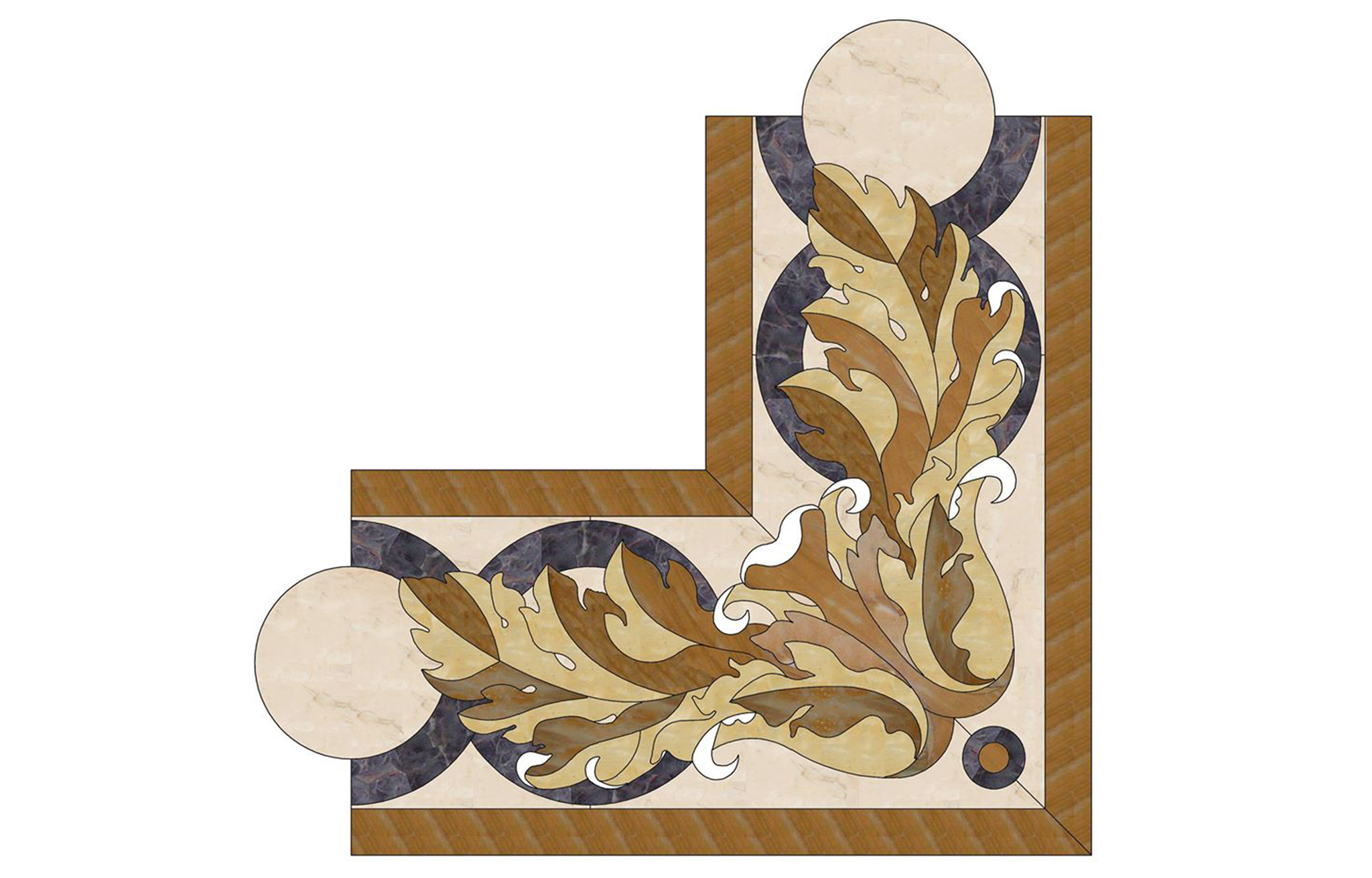 Pavimenti di marmo ad intarsio, marmi policromi - 1
