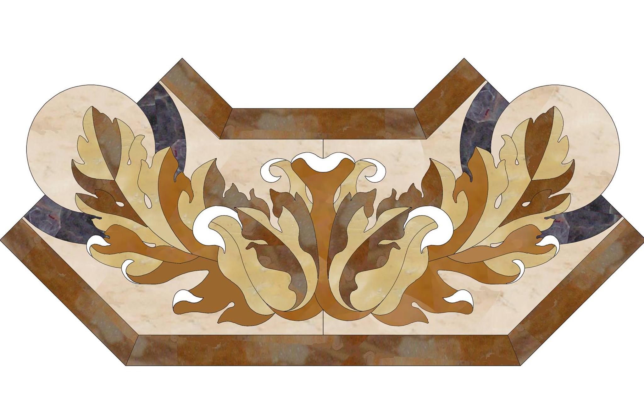 Pavimenti di marmo ad intarsio, marmi policromi - 2