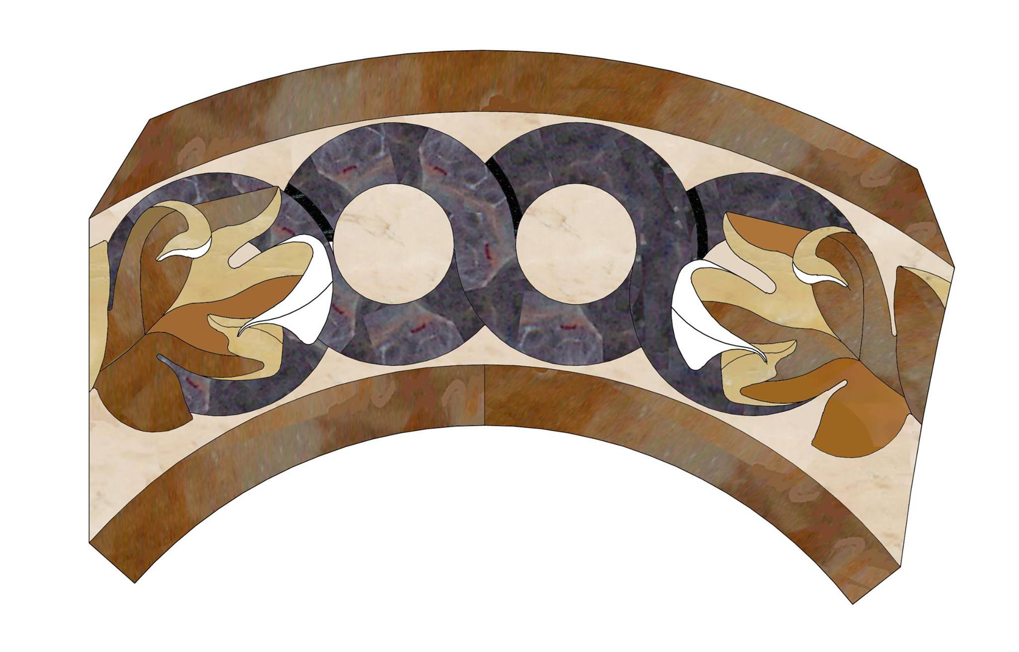 Pavimenti di marmo ad intarsio, marmi policromi - 3