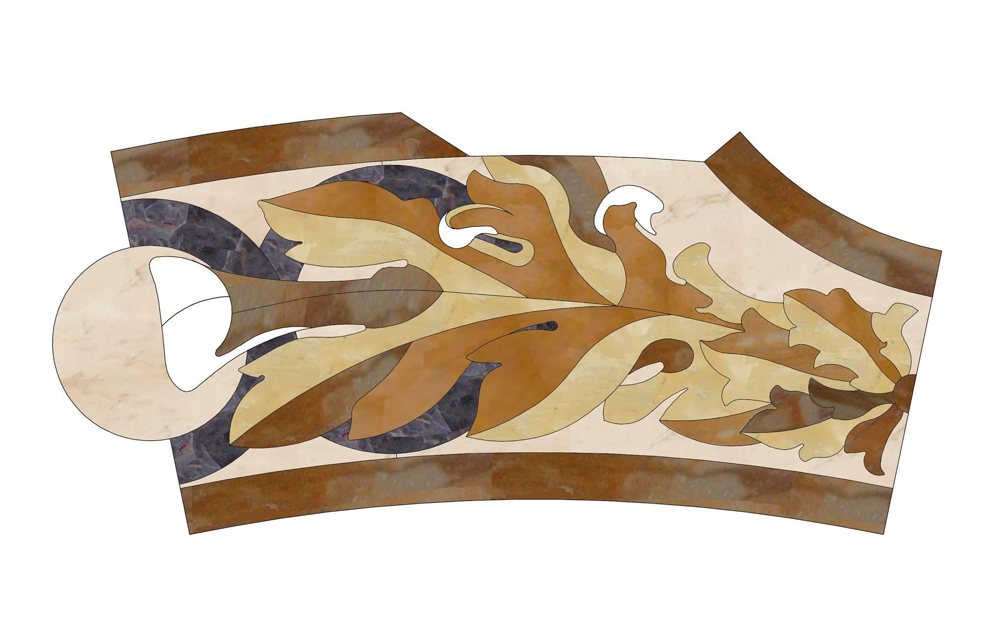 Pavimenti di marmo ad intarsio, marmi policromi - 4