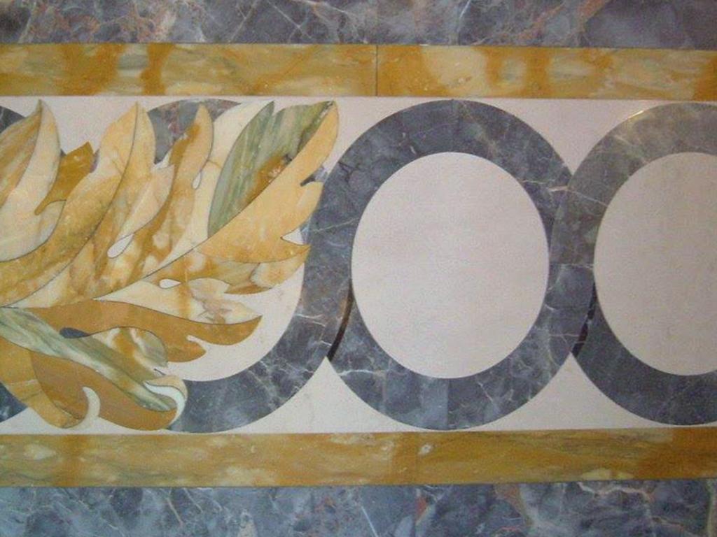 Pavimento di marmo ad intarsio, marmi colorati - 2