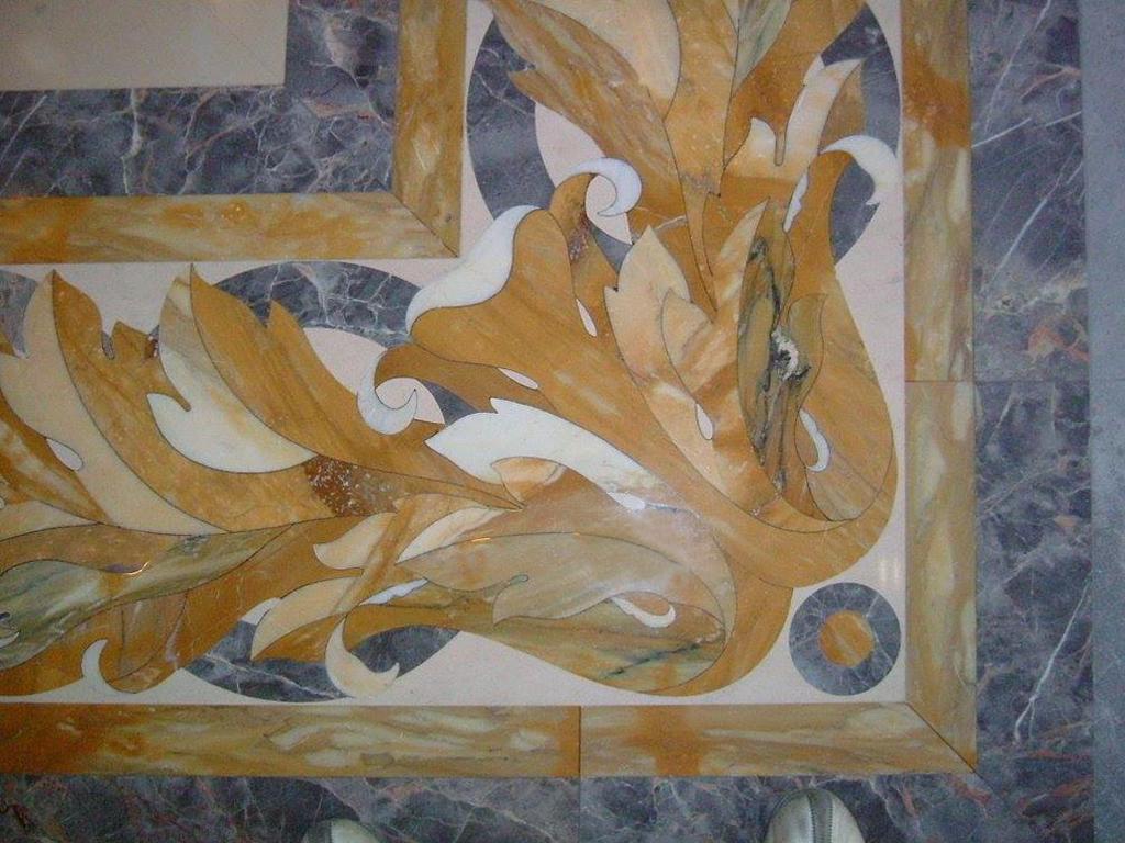 Pavimento di marmo ad intarsio, marmi colorati - 4