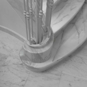 Scala in Marmo Bianco 009