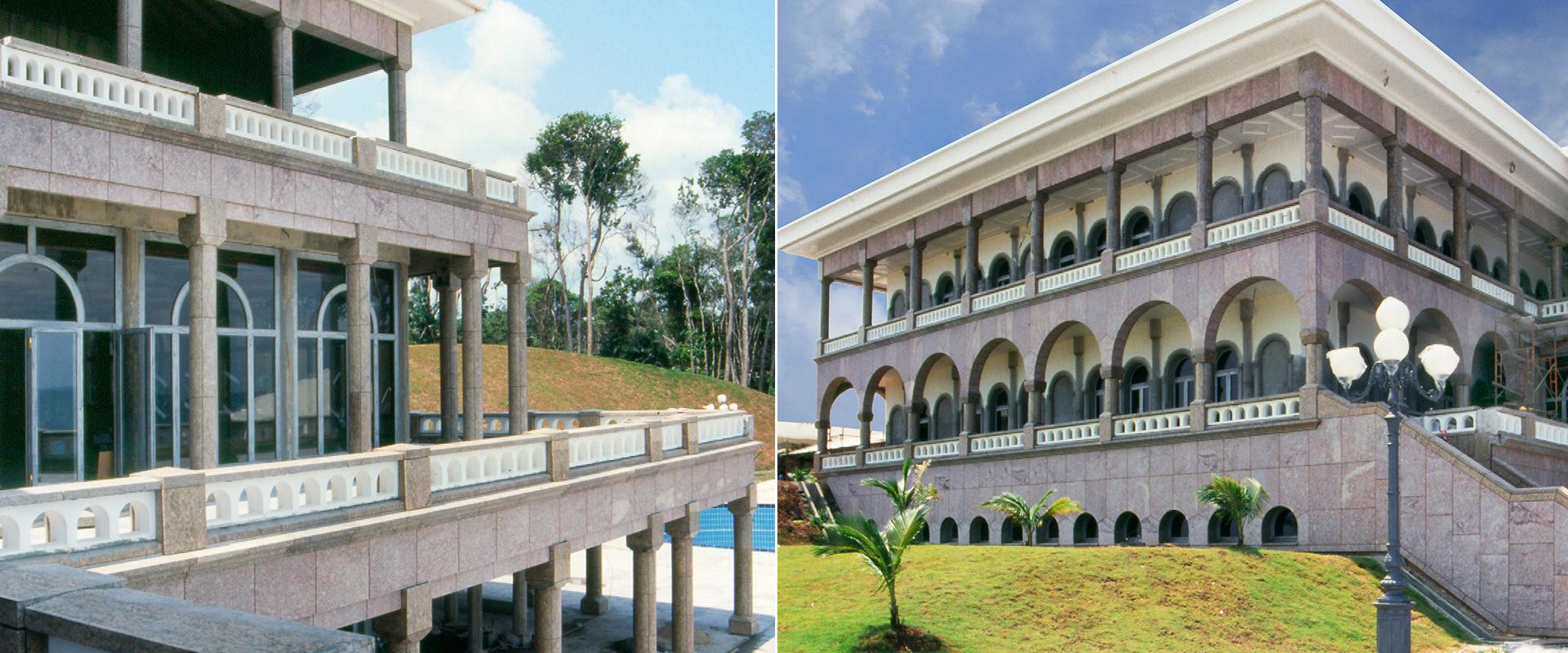 Palazzo del Sultano del Brunei - sistema di ancoraggio delle pareti ventilate