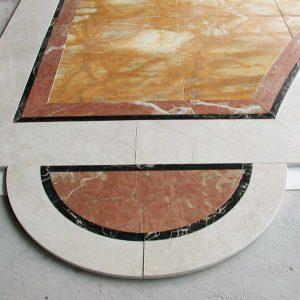 Villa Mosca Pavimenti in Botticino, Giallo Siena, Rosso Alicante, Portoro, Statuario - 8