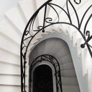Scala stile Liberty in Limestone francese - 4